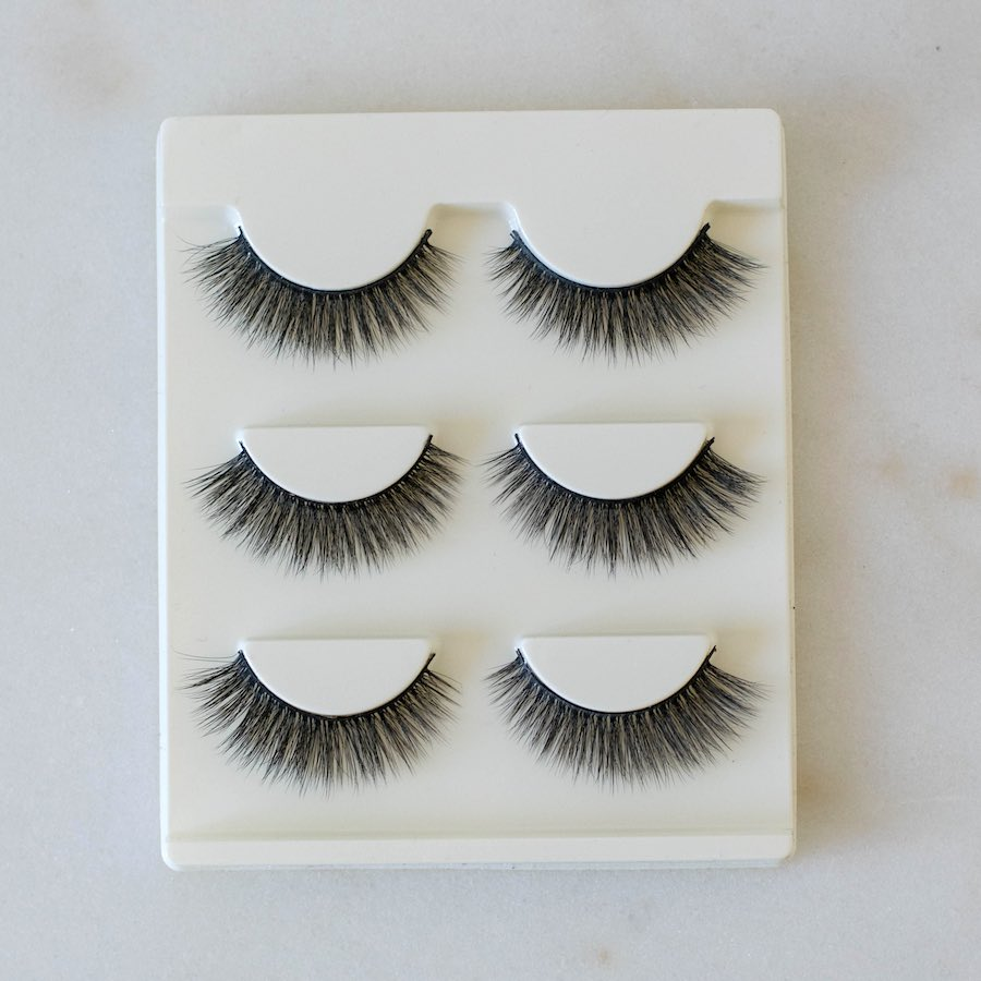 Natural fake-lashes (3 pairs)